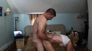 Real Couple- PEGGING & Fucking! Giving each other a Very Hard PASSIONATE Pounding!