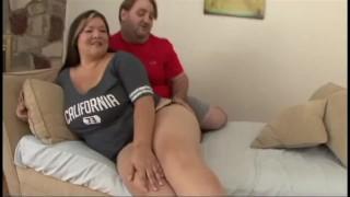 Asian Japanese Eurasian Wasian Chubby BBW MILF Kelly Shibari in Hardcore Threesome DP with 2 Chubs