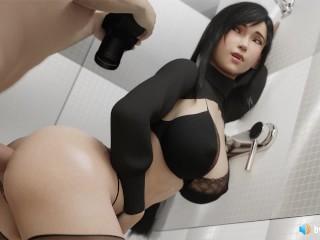 Tifa analy creampied in bathroom 3 hentai asmr...