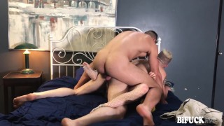 MMF Bisexual Threesome with Dante Cole, Wolf Hudson, and Holly Beth!