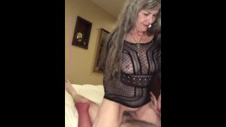Hot Mature Milf Gives POV BJ & Rides Cowgirl Tease - 13 min video on Onlyfans