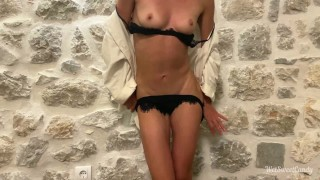 I Masturbate and Riding Dildo in My Friend's Country House and Get Strong Orgasm With Dildo