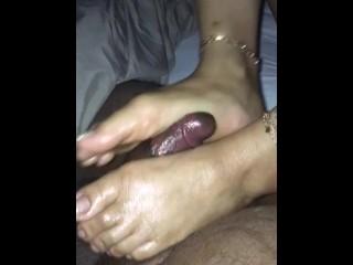 Asian nude footjob cumshot...