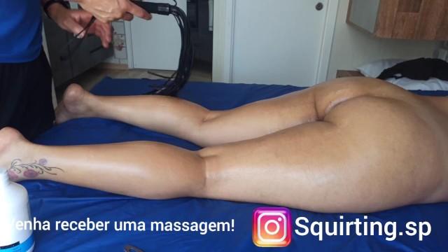 Woman massage, anal stimulation, big ass, and whip part 3 13
