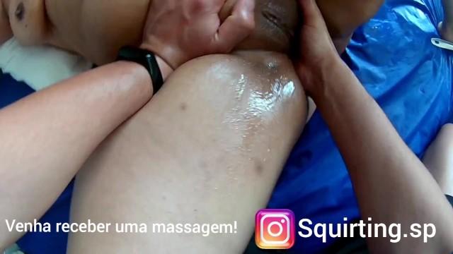 Woman massage, anal stimulation, big ass, and whip part 3 49