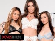 DevilsTGirls Jade Venus Bangs Lesbian Couple With Vanessa Vega fat sissy porn