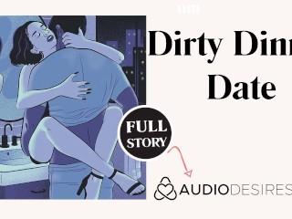 Couple hooks up at erotic audio story bathroom...