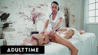 ADULT TIME - Seductive Masseuse Alex Coal Gives MILF Client An Extra Special Massage