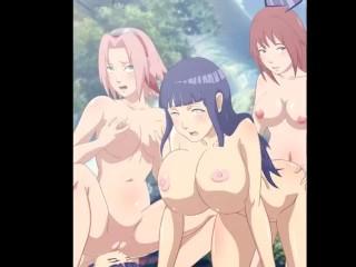 Naruto himawari sakura hinata sara lesbian orgy by...