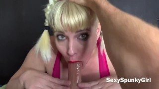 POV EXTREME GAGGING on Dick : Rough Sloppy Deepthroat By Amateur Girlfriend - Spunky