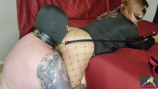 Mistress Bethany makes pathetic sub worship her ass