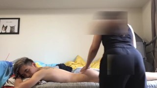 Married Latina Massage Lady slowly gives in to Monster Cock 2nd appointment Part 1