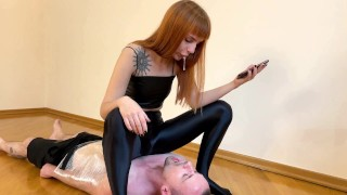 Kira Throatsitting On Mummified Slave And Spit In His Mouth