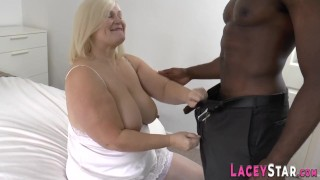 Mature gilf sucking black cock