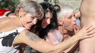 Three rich grannies craving for cum