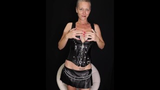 Kiki Deez In Leather Frees The Bad Boys and Cums 5x