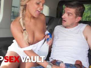 Fuckedintraffic blonde barra brass rides cock in hot...