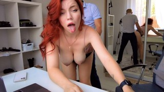 Sex in the office! Nothing unusual! Just jerk off!