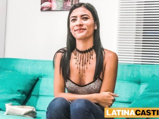 Slutty latina teen excited for porn...
