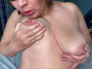 Chubby amateur milf long erect tits milf wearing...