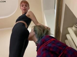 Sporty mistress kira ass worship lezdom...