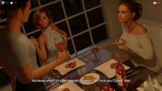 My Pleasure-0.16- part 24 Drink wine with a 2 sexy chicks