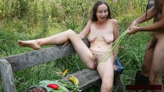 Garden Play: Long Bean Whipping, Bisexual Bittermelon, Squirting, and More!