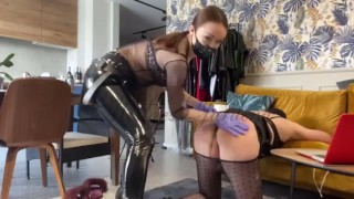 Fuck toy for Mistress joy- full clip on my Onlyfans (link In bio)