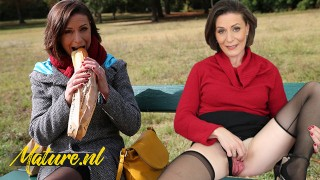 French MILF Eats Her Lunch Outside Before Leaving With a Stranger & Getting Ass Fucked