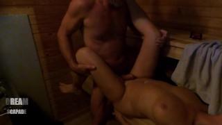 The first sauna bath this autumn