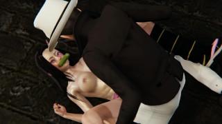 [3dhentai] Demon Slayer Nezuko Dominated by Kibutsuji Muzan and a Demon [Cumshots, DP, Titfuck]