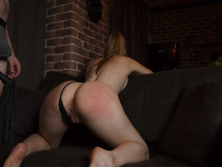 Spanked girlfriend ass until she blushed it turns...