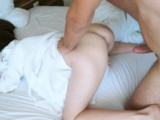 the girl was doing a manicure, but I slipped her a member. Licked her sweet pussy and fucked