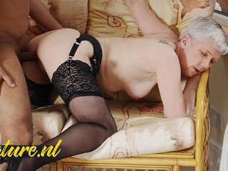 Horny granny is in big need of a...