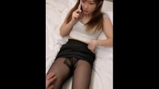 Pretty shemale sex with her boyfriend in hotel
