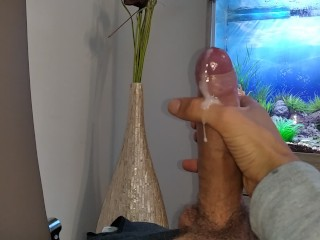 Hot young guy wanks his nice until he...