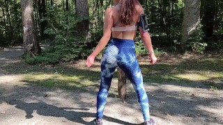 Perfect Ass in Blue Leggings