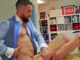Menatplay latin ass bred by suited boss nick...