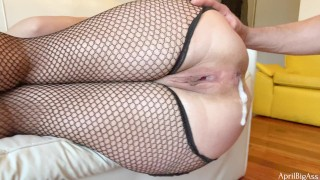 Creampie anal ,no mercy wearing slut fucking with hard, massive cum inside ,Brazil girl -4k-!