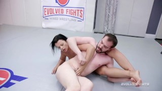 Busty Nadia White Starts of Strong against Peter King in Evolved Fights
