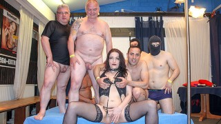 The amateur gangbang whore