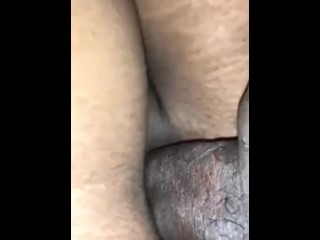 Freshly baked pussy hole being fucked...