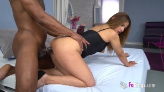 Shy Latina babe gets SUPERFUCKED by the first big BLACK COCK in all of her life