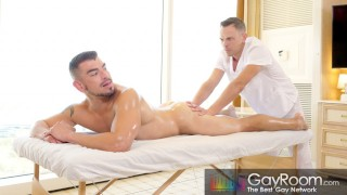 Big Ass Latino Hunk Gets Dominated By His Hot Daddy Masseur
