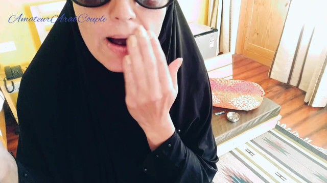 Arabic Girl Smoking With Cock And Sperm On Her Beautiful Hijab Face