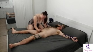 Tied up and made to cum with ORGASM TORTURE - FEMDOM