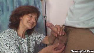 Sewing old grandma enjoys riding cock