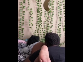 Ebony college student makes me eat her pussy...