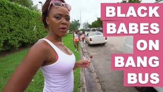 BANGBROS - Black Babes On The Bang Bus Featuring Anya Ivy, Amilian Kush, Milu Blaze & More