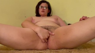 Horny MILF masturbates leaking creampie from deep up close fuck